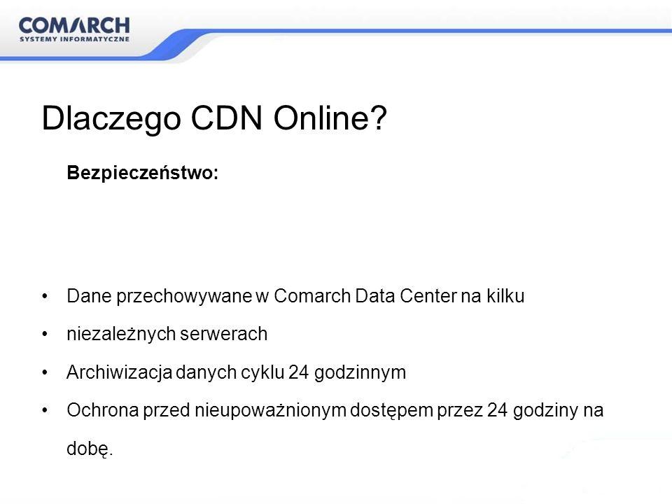 Dlaczego CDN Online Dane przechowywane w Comarch Data Center na kilku