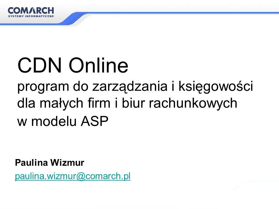 CDN Online program do zarządzania i księgowości dla małych firm i biur rachunkowych w modelu ASP