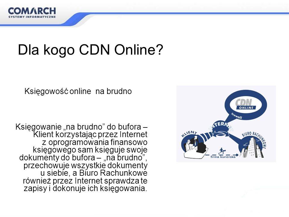 Dla kogo CDN Online Księgowość online na brudno