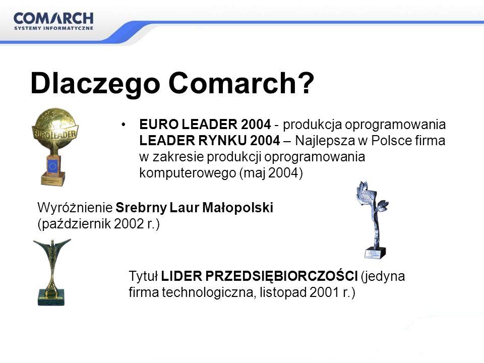 Dlaczego Comarch EURO LEADER 2004 - produkcja oprogramowania