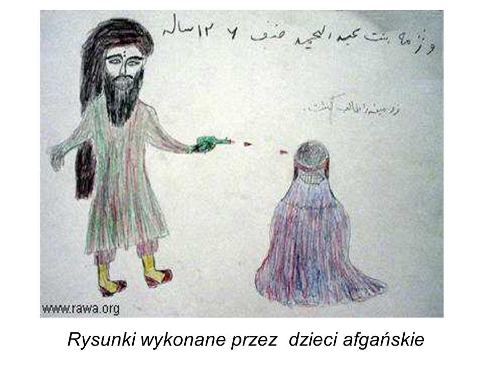 Rysunki wykonane przez dzieci afgańskie