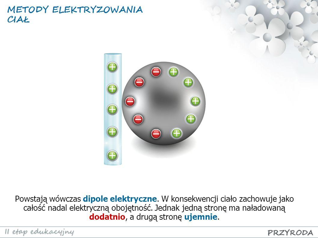 Powstają wówczas dipole elektryczne