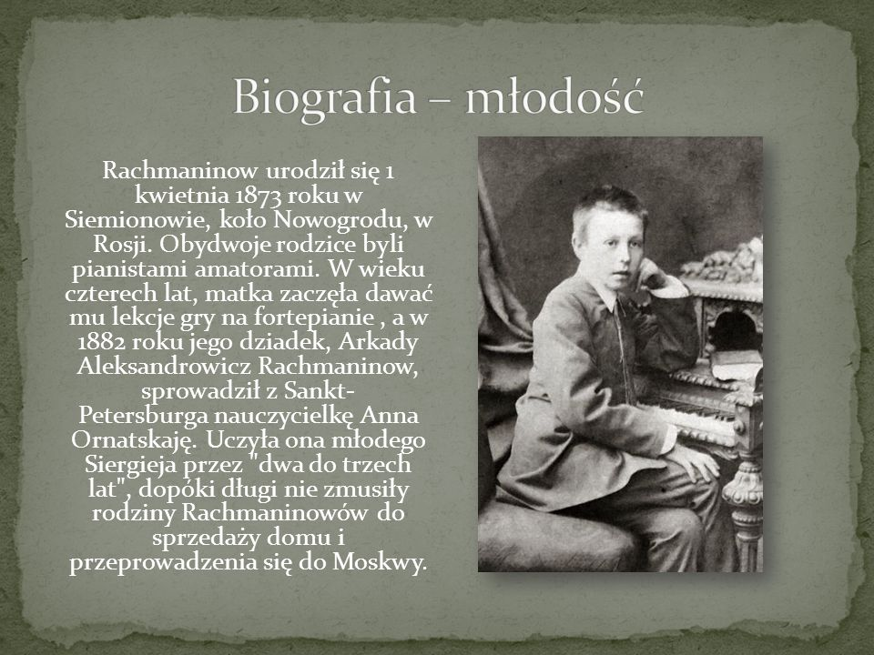 Biografia – młodość