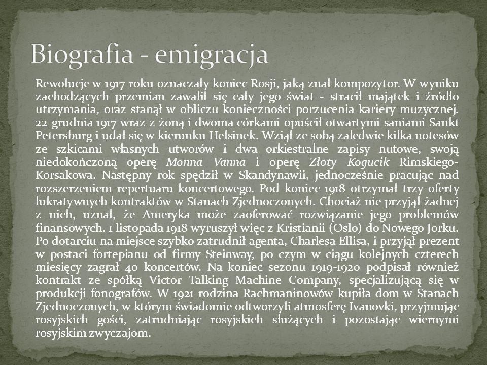 Biografia - emigracja