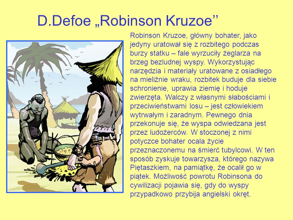 "D.Defoe ""Robinson Kruzoe''"