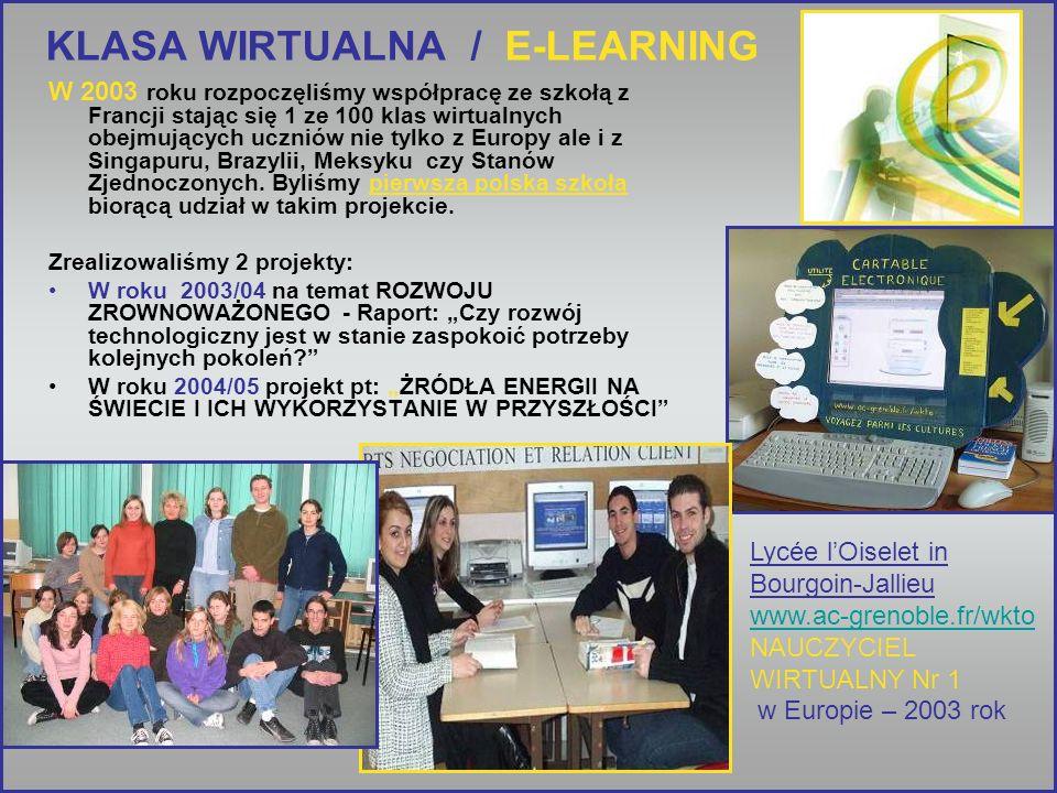 KLASA WIRTUALNA / E-LEARNING