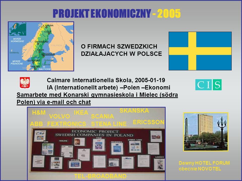 PROJEKT EKONOMICZNY - 2005 O FIRMACH SZWEDZKICH DZIAŁAJACYCH W POLSCE