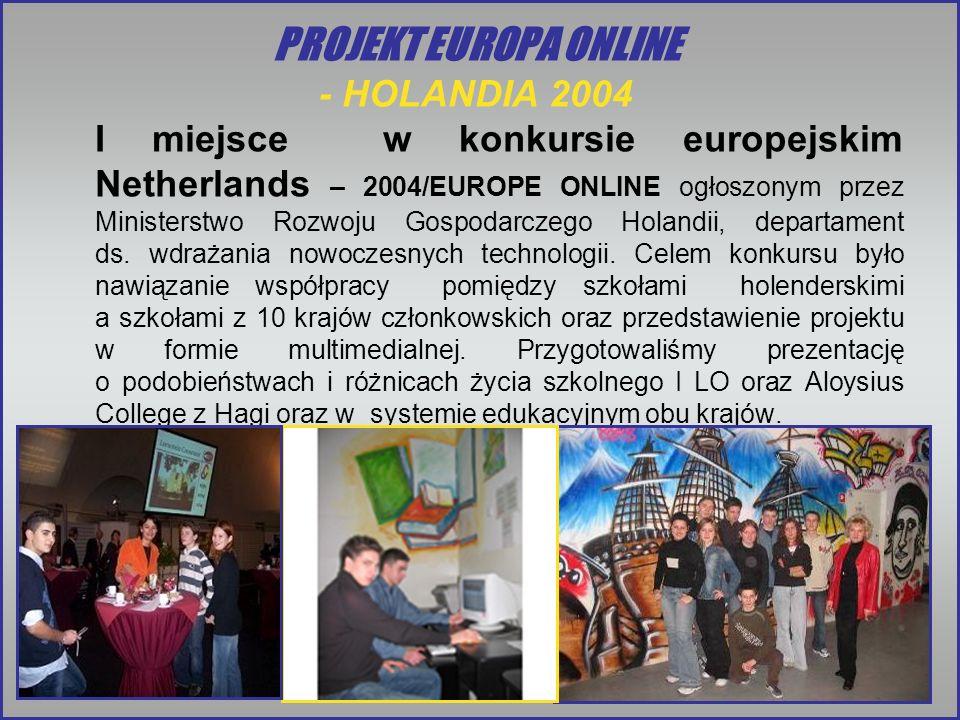 PROJEKT EUROPA ONLINE - HOLANDIA 2004