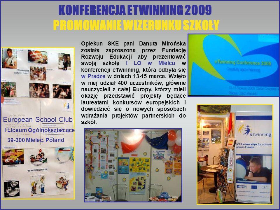 KONFERENCJA ETWINNING 2009 PROMOWANIE WIZERUNKU SZKOŁY