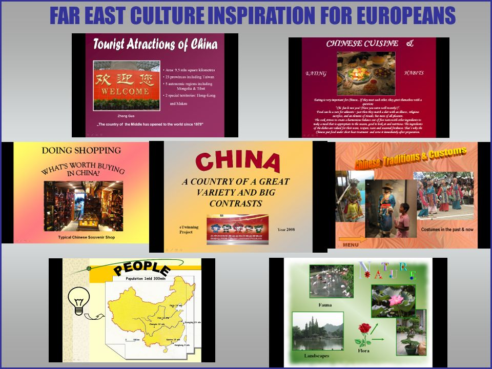 FAR EAST CULTURE INSPIRATION FOR EUROPEANS