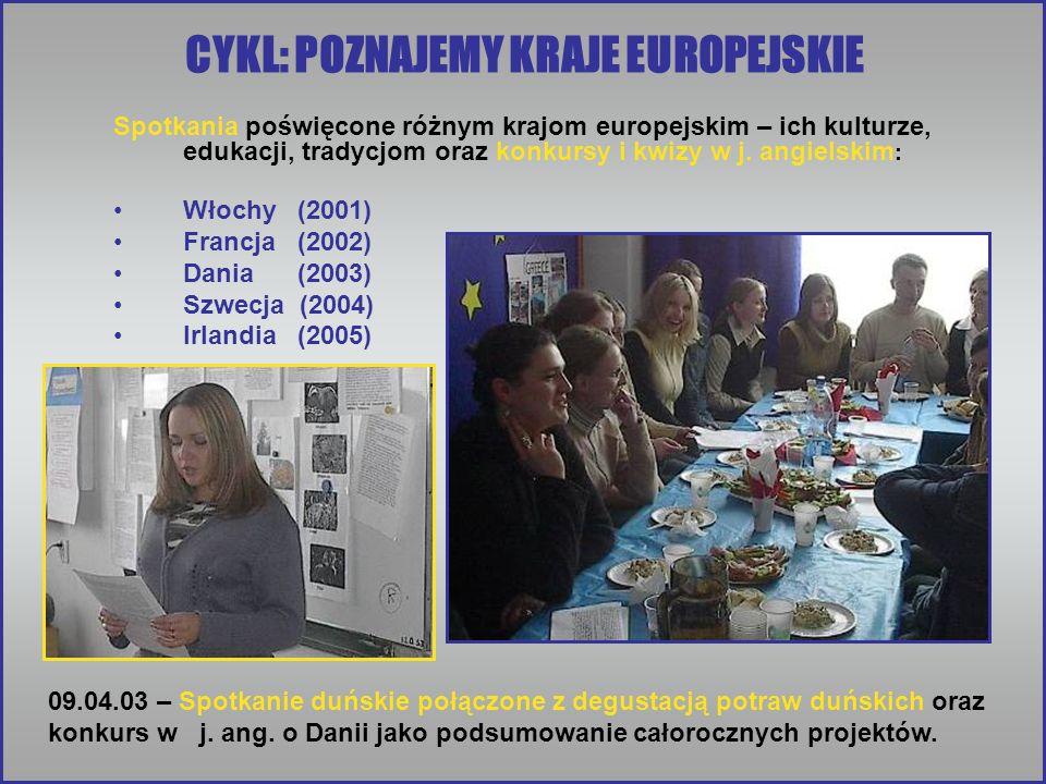 CYKL: POZNAJEMY KRAJE EUROPEJSKIE