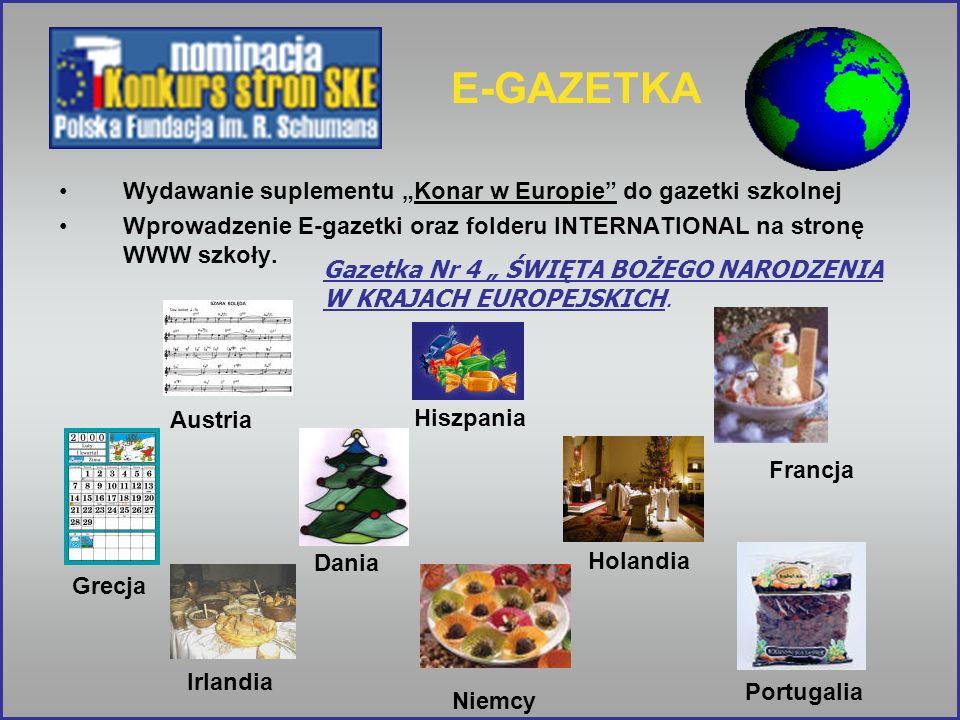"""E-GAZETKA Wydawanie suplementu """"Konar w Europie do gazetki szkolnej"""