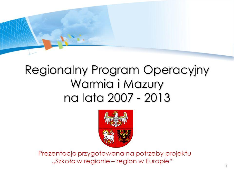 Regionalny Program Operacyjny Warmia i Mazury