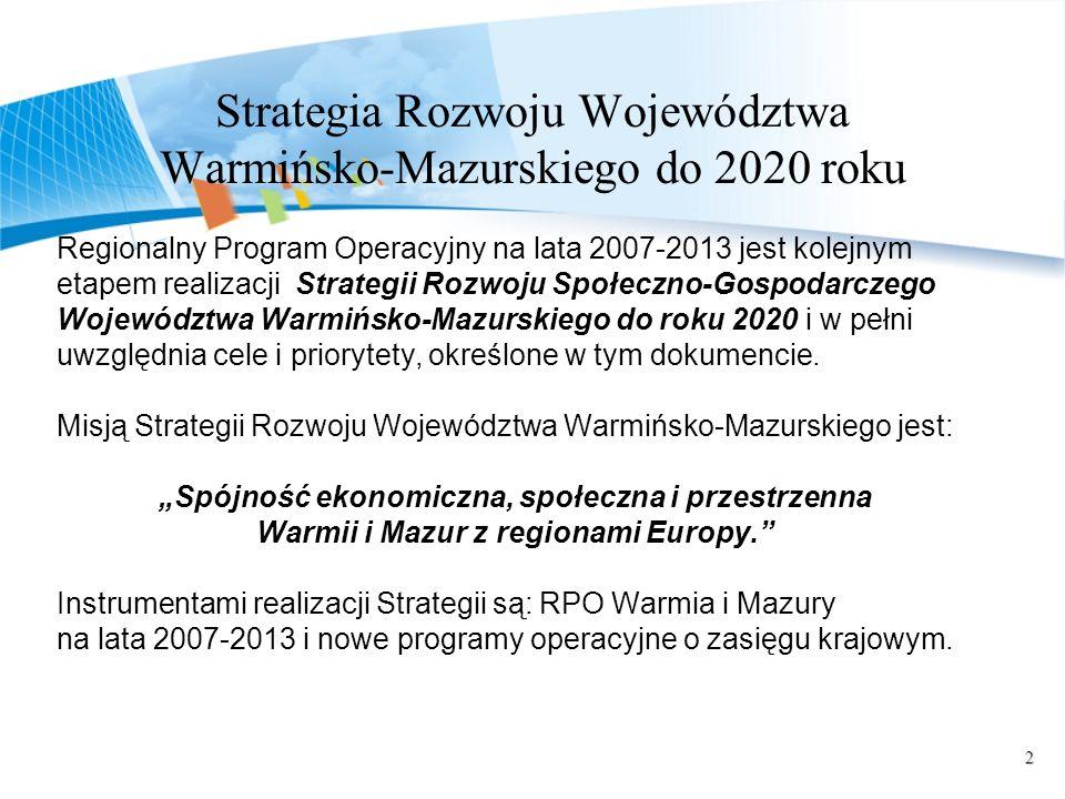 Strategia Rozwoju Województwa Warmińsko-Mazurskiego do 2020 roku