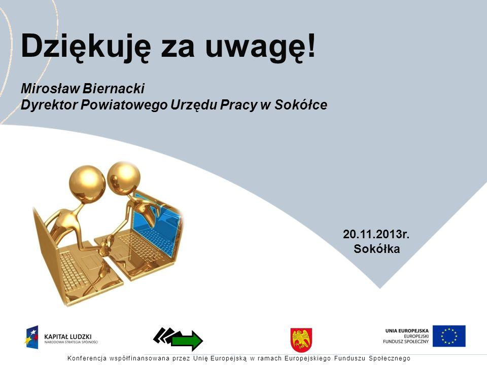 Dziękuję za uwagę! Mirosław Biernacki