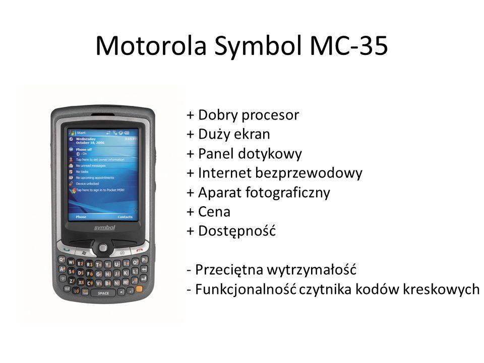 Motorola Symbol MC-35 + Dobry procesor + Duży ekran + Panel dotykowy