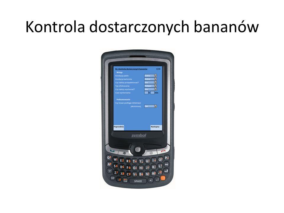 Kontrola dostarczonych bananów