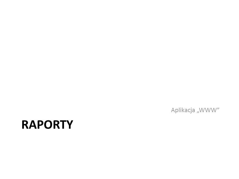 """Aplikacja """"WWW Raporty"""