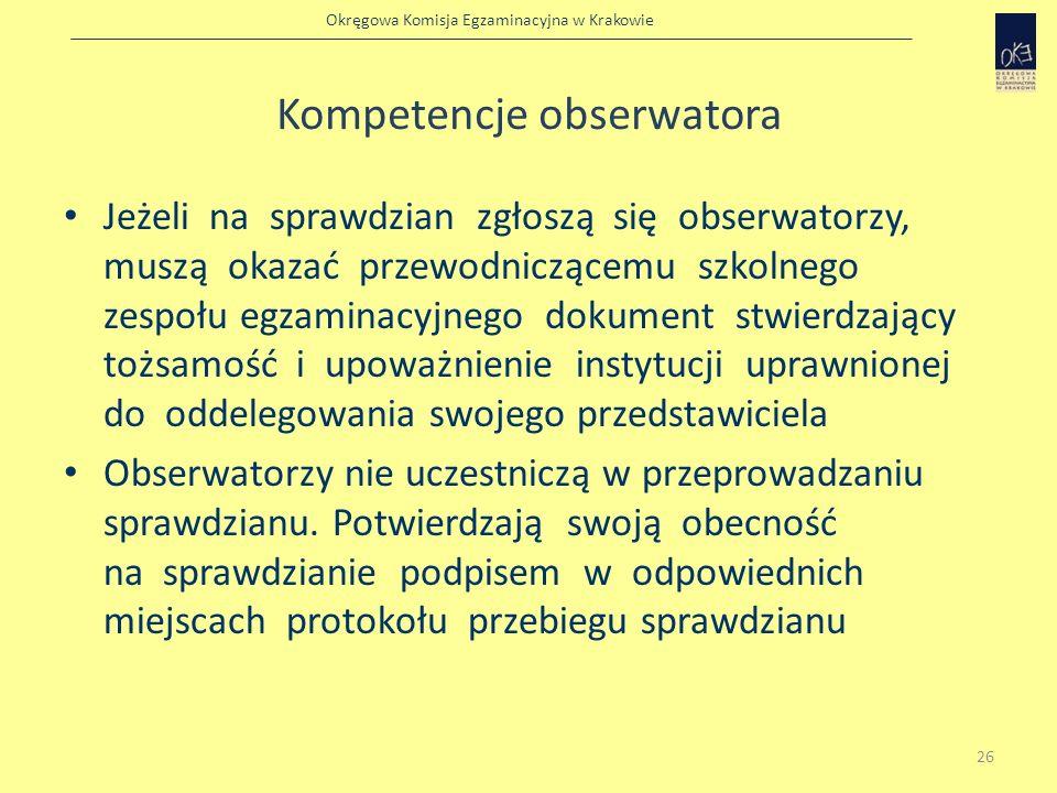 Kompetencje obserwatora