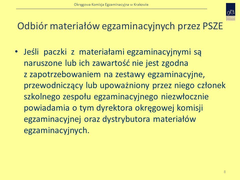 Odbiór materiałów egzaminacyjnych przez PSZE