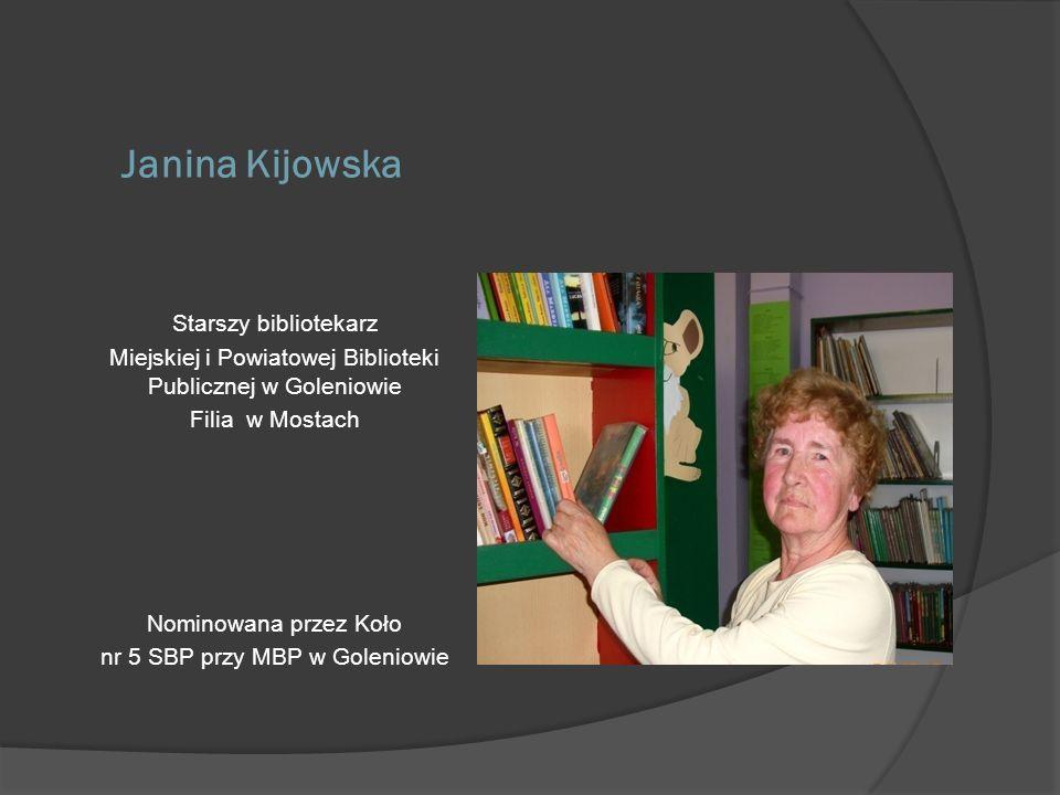Janina Kijowska Starszy bibliotekarz