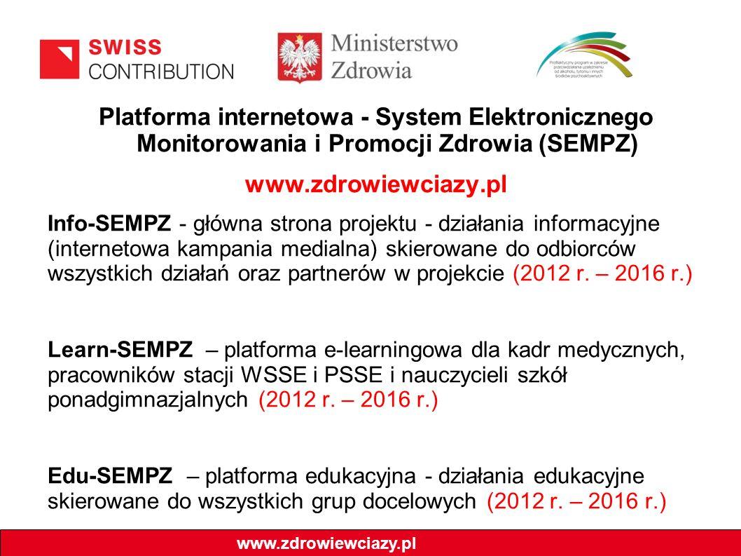 Platforma internetowa - System Elektronicznego Monitorowania i Promocji Zdrowia (SEMPZ)