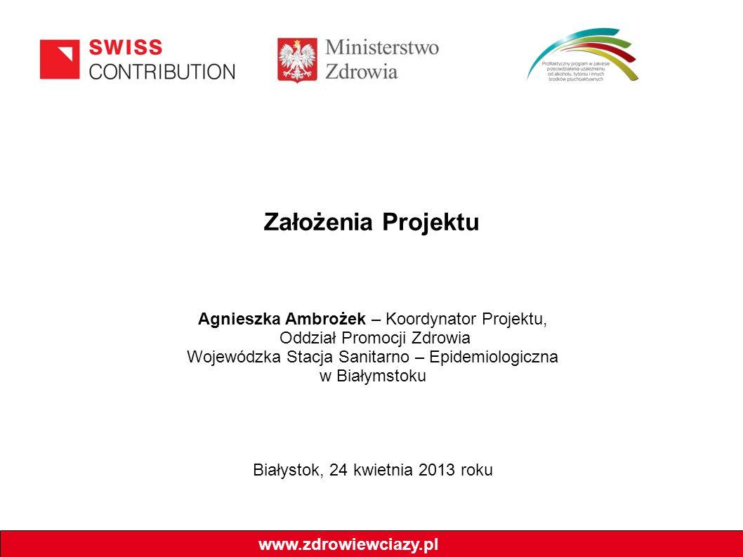 Założenia Projektu Agnieszka Ambrożek – Koordynator Projektu,