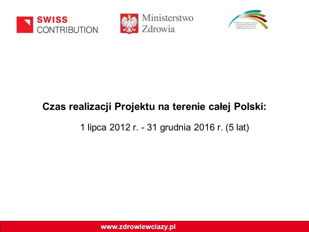 Czas realizacji Projektu na terenie całej Polski: