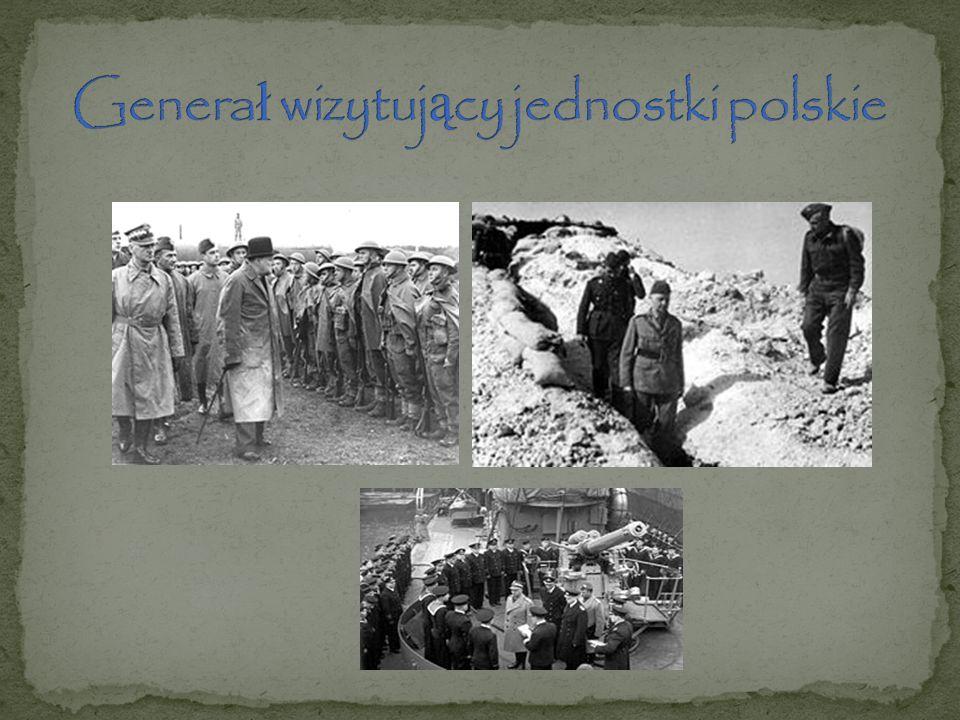 Generał wizytujący jednostki polskie