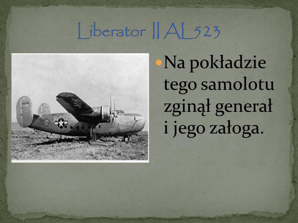 Na pokładzie tego samolotu zginął generał i jego załoga.