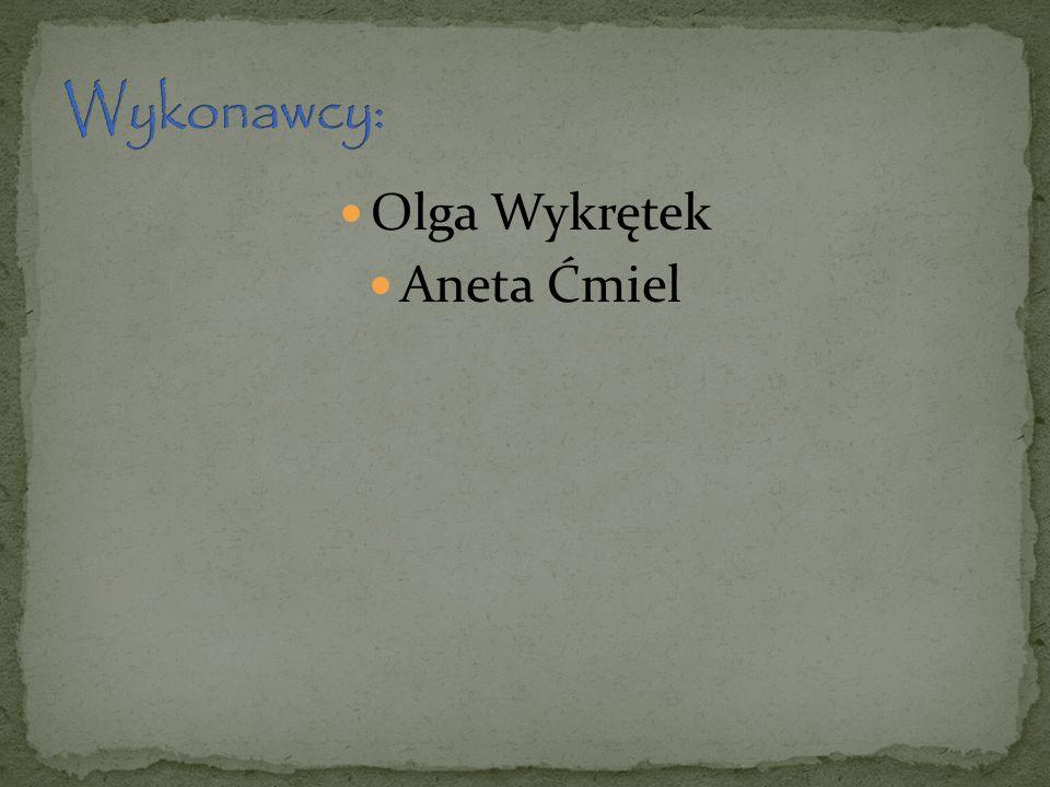 Wykonawcy: Olga Wykrętek Aneta Ćmiel