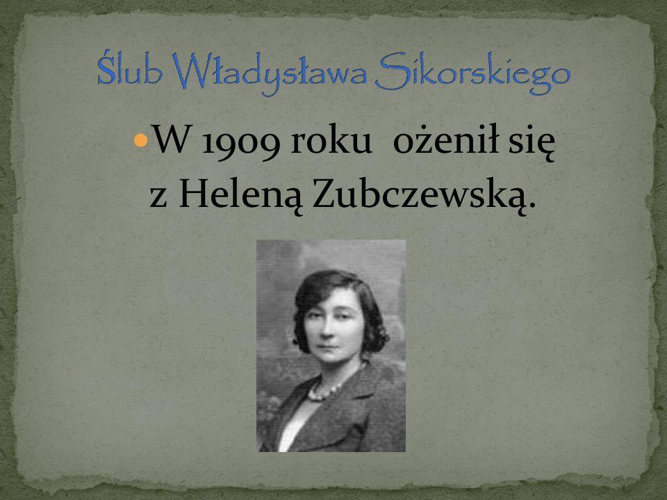Ślub Władysława Sikorskiego