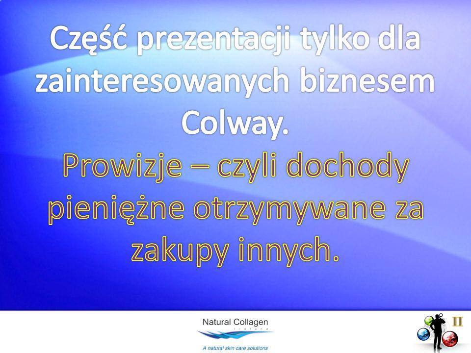Część prezentacji tylko dla zainteresowanych biznesem Colway