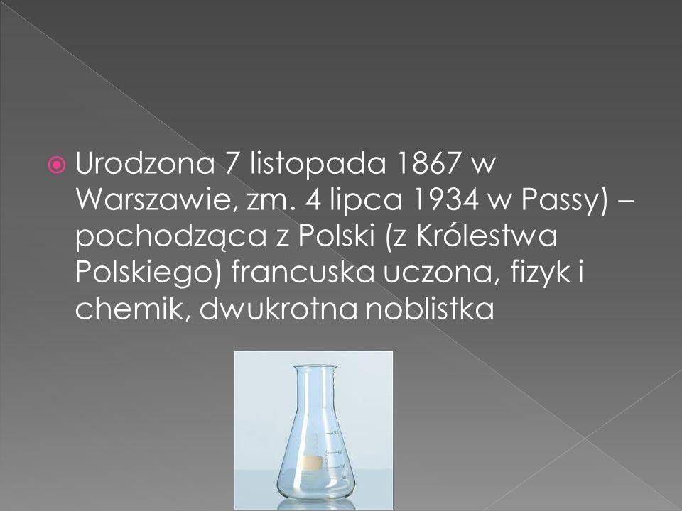 Urodzona 7 listopada 1867 w Warszawie, zm