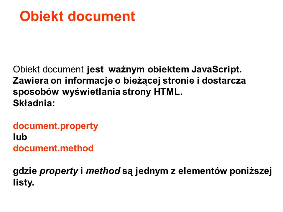 Obiekt document