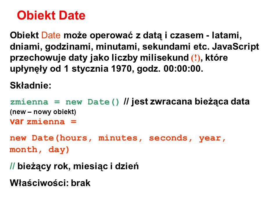 Obiekt Date