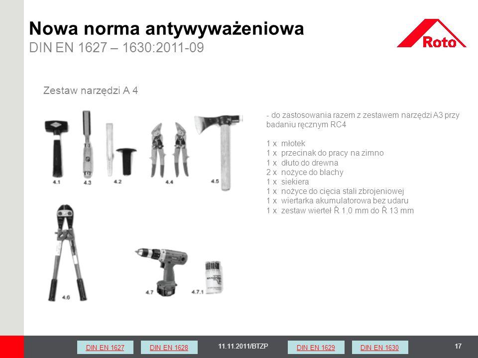 Nowa norma antywyważeniowa DIN EN 1627 – 1630:2011-09