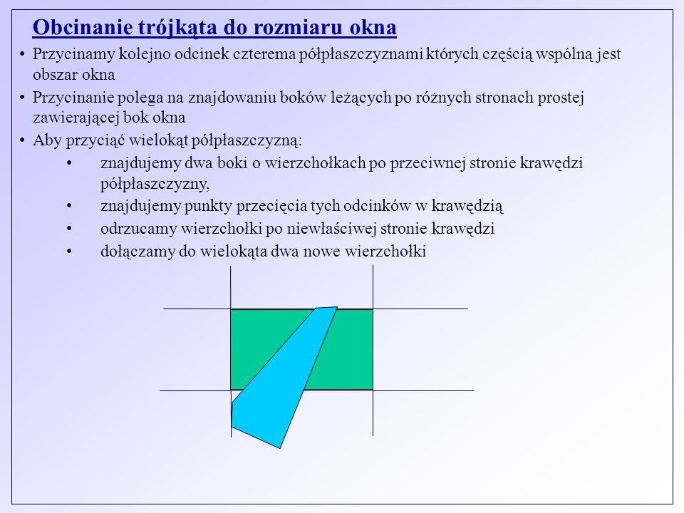 Obcinanie trójkąta do rozmiaru okna