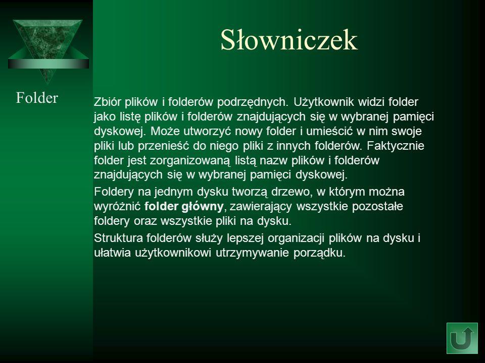 Słowniczek Folder.