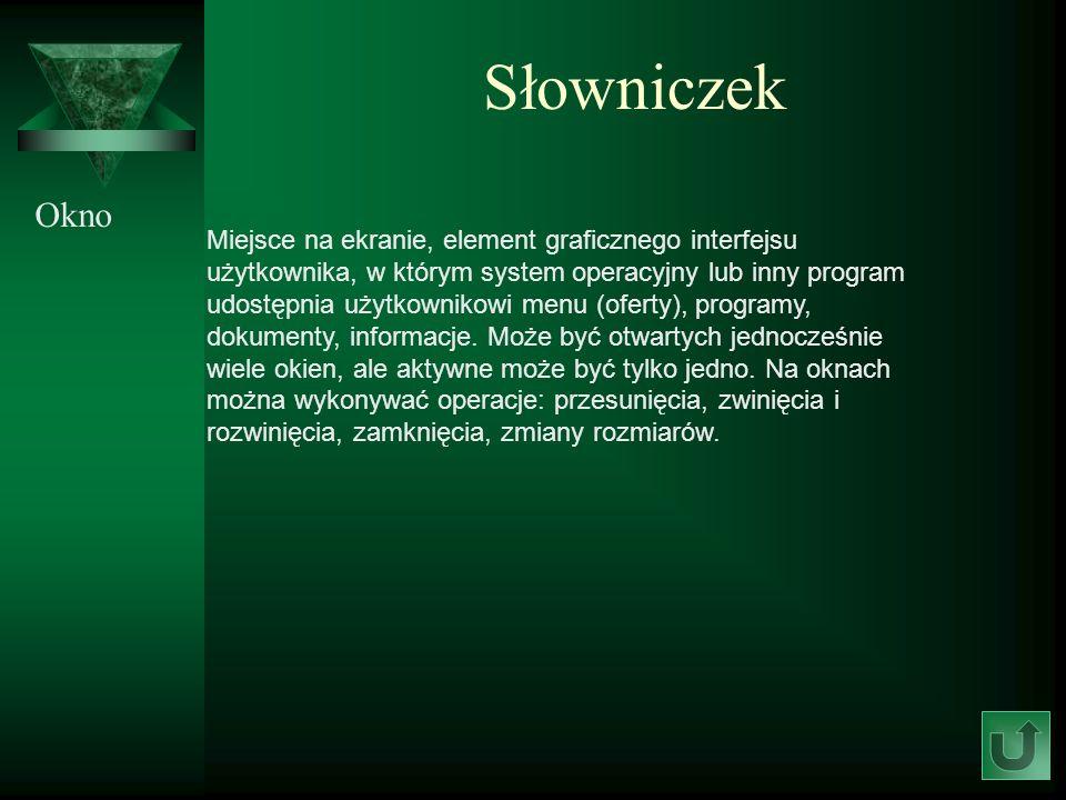 Słowniczek Okno.