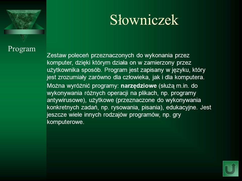 Słowniczek Program.