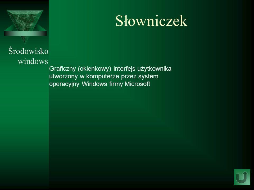 Słowniczek Środowisko windows