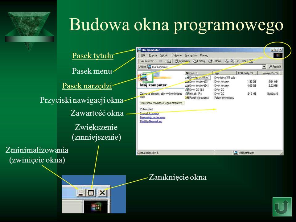 Budowa okna programowego