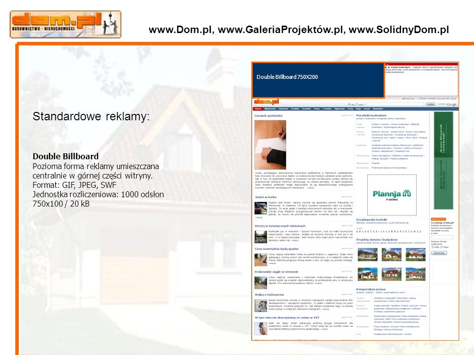 www.Dom.pl, www.GaleriaProjektów.pl, www.SolidnyDom.pl