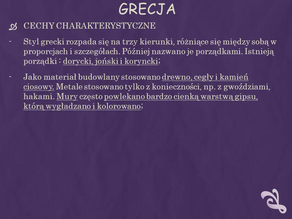 GRECJA CECHY CHARAKTERYSTYCZNE