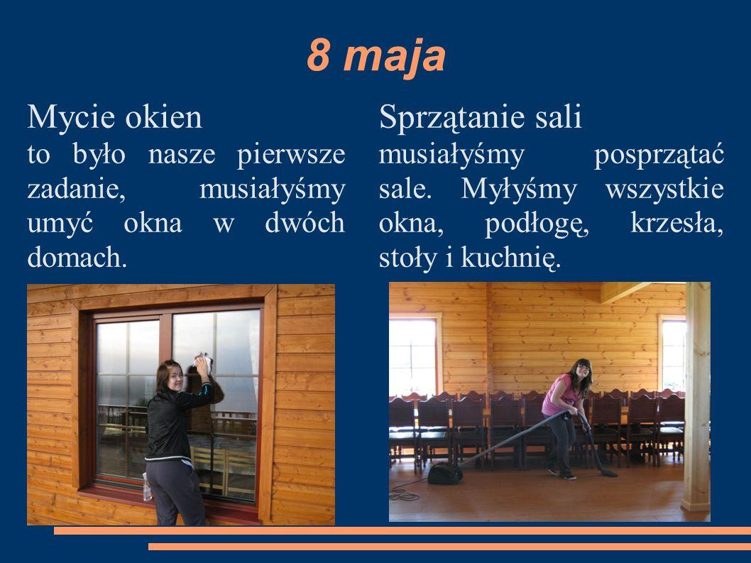 8 maja Mycie okien Sprzątanie sali