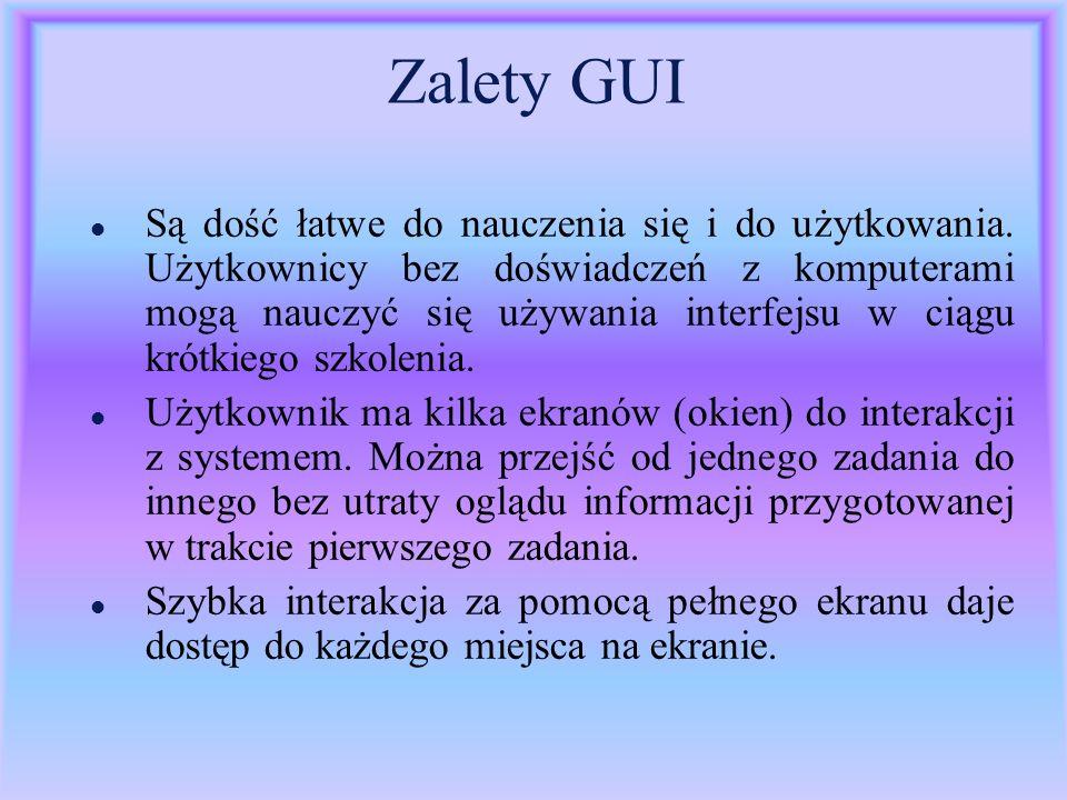 Zalety GUI