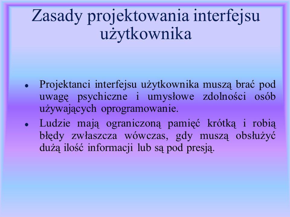 Zasady projektowania interfejsu użytkownika