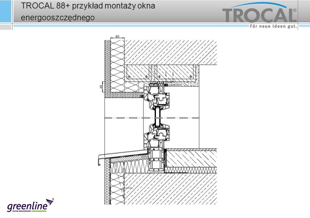 TROCAL 88+ przykład montaży okna energooszczędnego