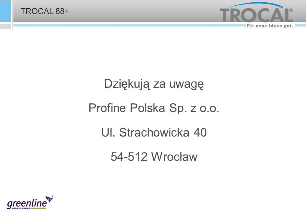 Dziękują za uwagę Profine Polska Sp. z o.o. Ul. Strachowicka 40